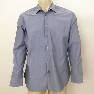 John Varvatos pin striped button down shirt